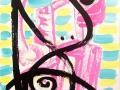 Pensive Pink Dance Head